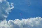 Flugtag in Herscheid Falkenberg Fallschirm