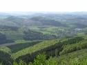 Fernsicht vom Kamm des Berges.
